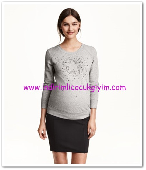 HM-gri hamile sweatshirt-70 TL
