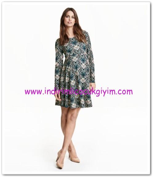 HM-jarse desenli hamile elbise-60 TL