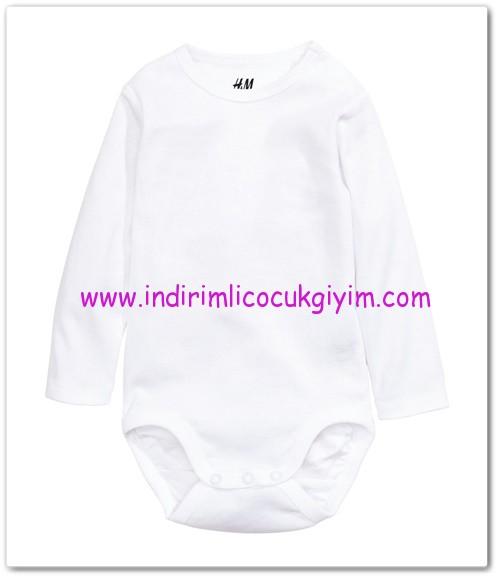 HM-kız bebek beyaz body-13 TL