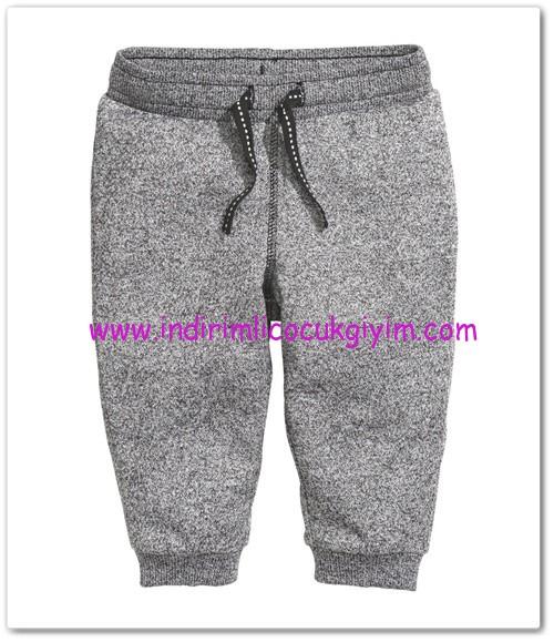 HM-kız bebek gri kırçıllı spor sweatshirt pantolon-15 TL