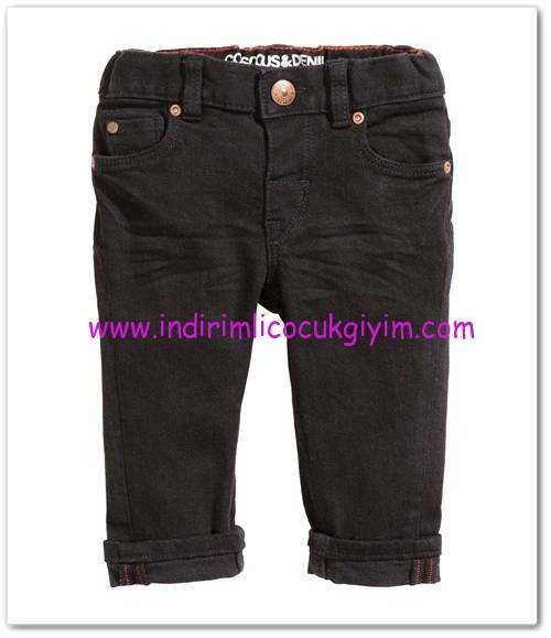 HM-kız bebek siyah jean pantolon-35 TL