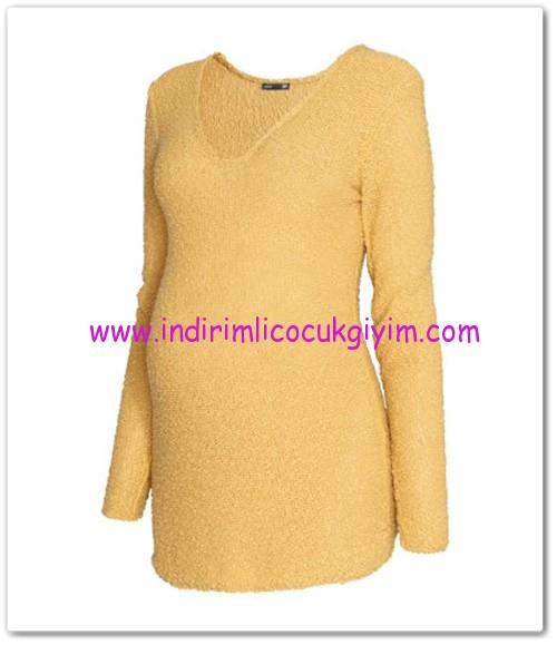HM-sarı ters örgü hamile kazak-80 TL