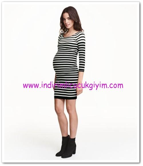 HM-siyah çizgili ribanalı hamile elbise-100 TL