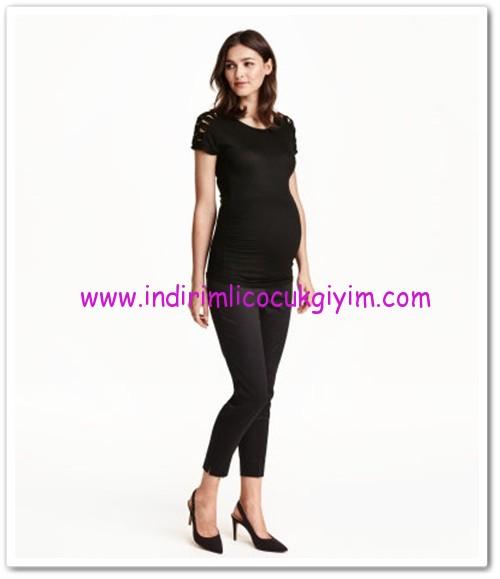HM-siyah streç hamile pantolon-60 TL