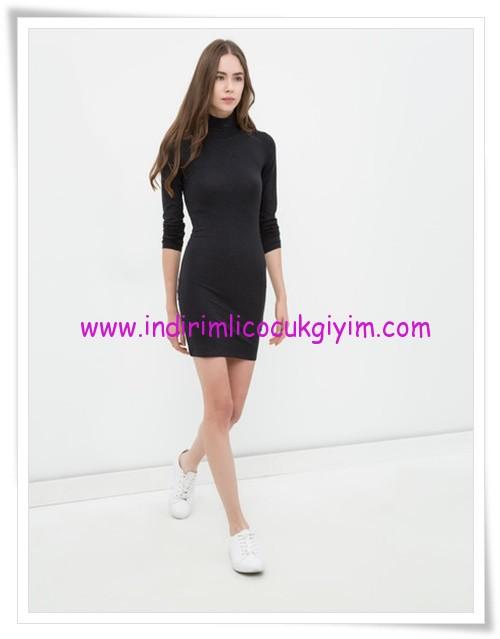 Koton balıkçı yaka mini genç kız gri elbise-13 TL