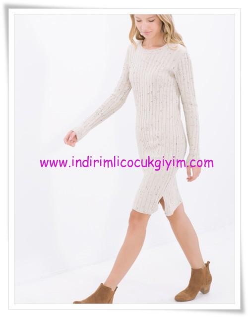 Koton ekru triko genç kız elbise-20 TL
