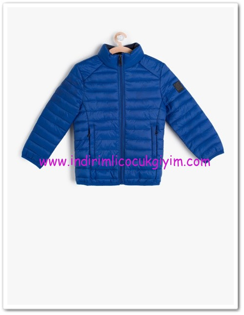 Koton erkek çocuk saks mavisi hakim yaka mont-60 TL