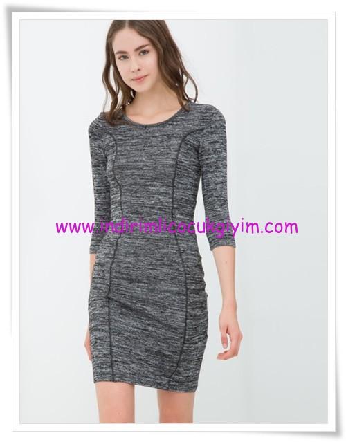 Koton gri truvakar kollu genç kız elbise-16 TL