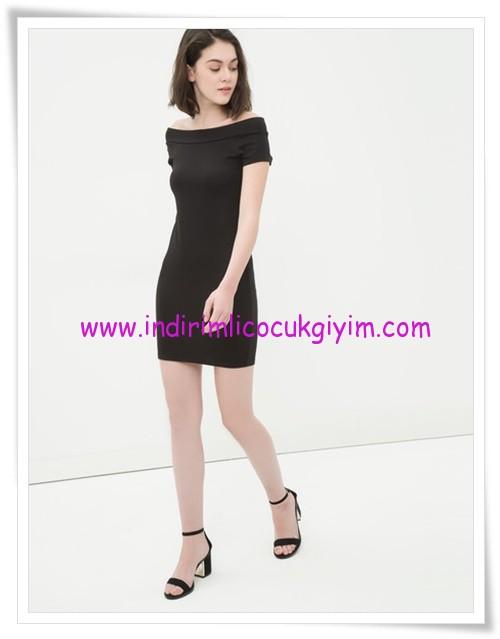 Koton siyah kayık yaka mini elbise-50 TL