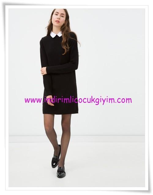 Koton siyah klasik mini elbise-40 TL