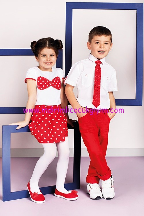 LC Waikiki 23 Nisan kırmızı-beyaz çocuk kıyafetleri