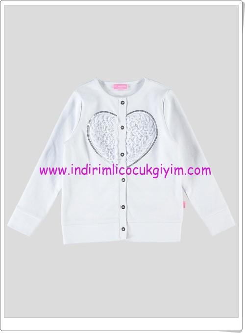 LCW kız çocuk beyaz kalpli hırka-25 TL