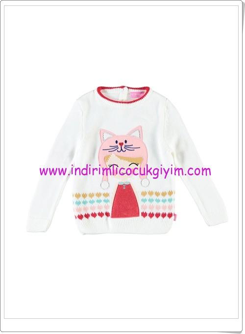 LCW kız çocuk ekru kız baskılı kazak-25 TL