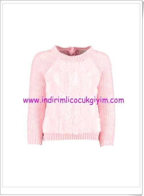 LCW kız çocuk pembe kazak modelleri-30 TL