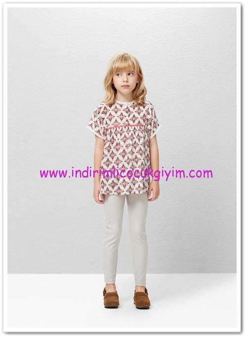 Mango kız çocuk desenli boho bluz-60 TL