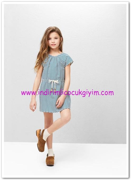 Mango kız çocuk geometrik desenli elbise-80 TL