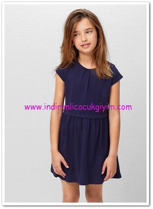 Mango kız çocuk lacivert pamuklu elbise-33 TL