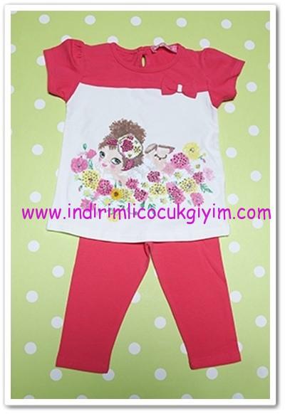 Tozlu Giyim 1-4 yaş kız çocuk fuşya taytlı takım-23 TL