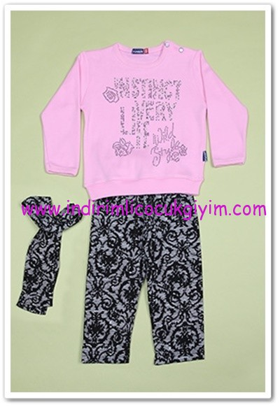 Tozlu Giyim taş detaylı bebek 2li takım-20 TL