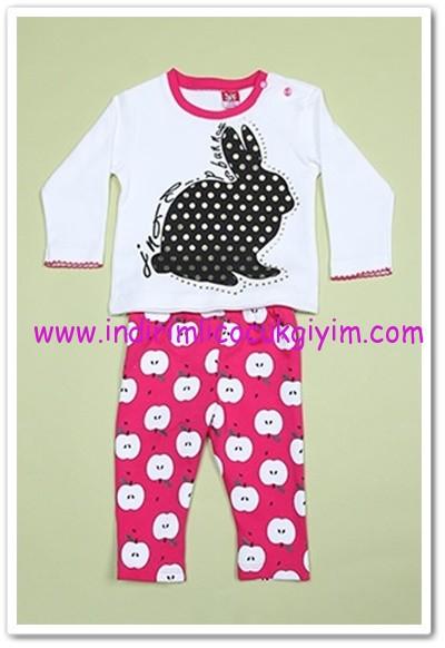 db21577481495 Tozlu Giyim tavşan baskılı bebek 2li takım-20 TL | İndirimli Çocuk Giyim  Modelleri