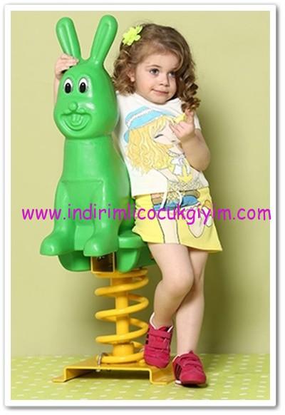 Tozlu giyim kız çocuk sarı etekli takım-23 TL