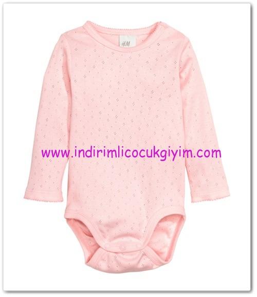 hm-kız bebek pembe body-15 TL