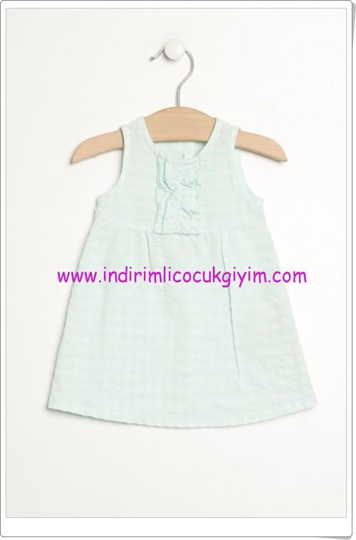 Benetton kız çocuk kareli elbise-25 TL