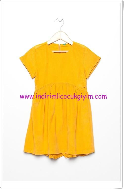 Benetton kız çocuk sarı elbise-30 TL
