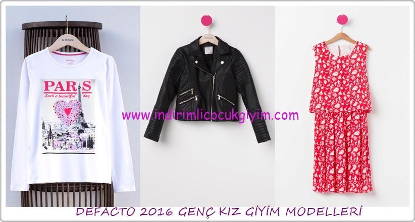 DeFacto 2016 genç kız giyim modelleri