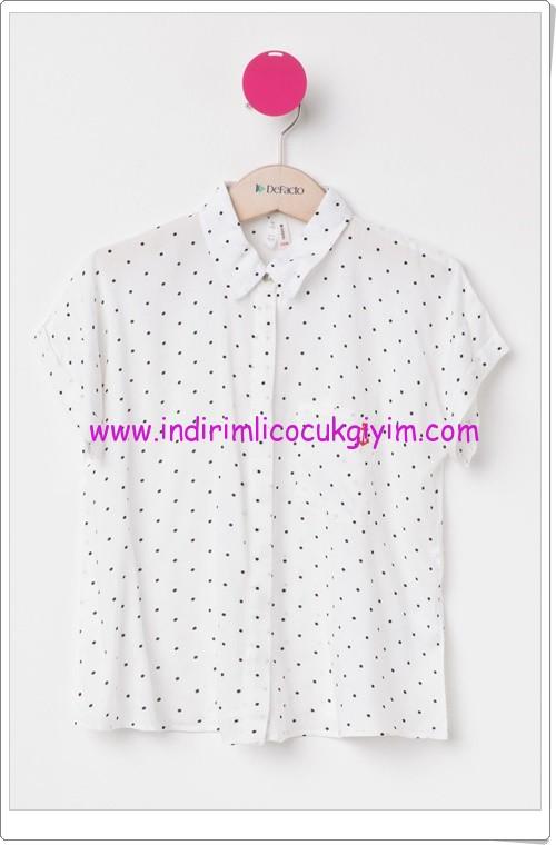 DeFacto genç kız beyaz gömlek-30 TL