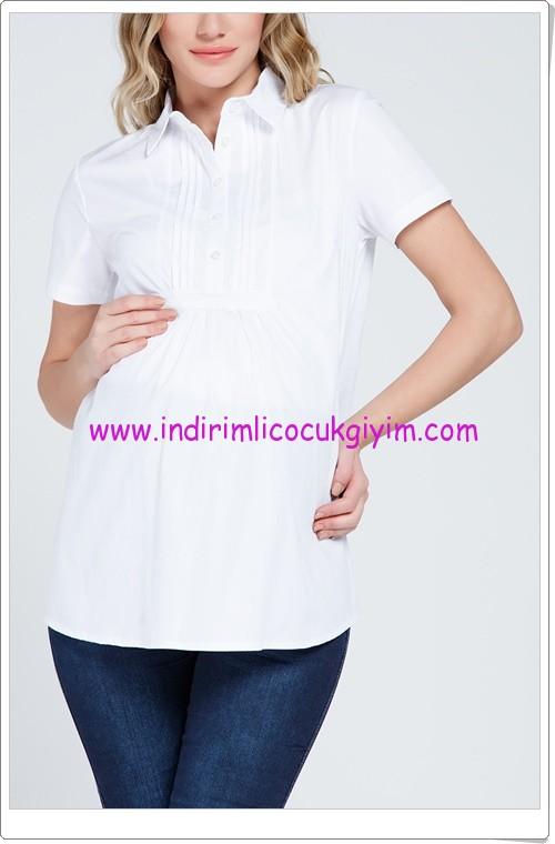 Gör&Sin beyaz hamile gömlek-50 TL