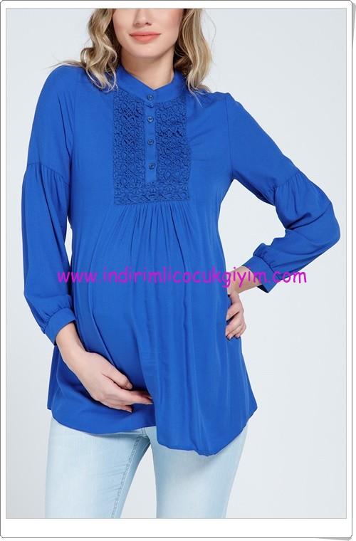 Gör&Sin saks güpürlü hamile gömlek-60 TL