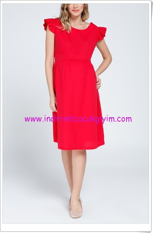 Gör&sin kırmızı hamile elbise-80 TL
