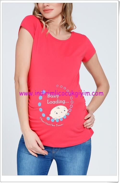 Gör&sin pembe bebek baskılı tişört-25 TL