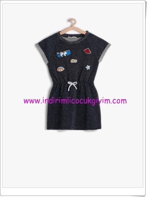 Koton kız çocuk indigo beli bağcıklı elbise-30 TL