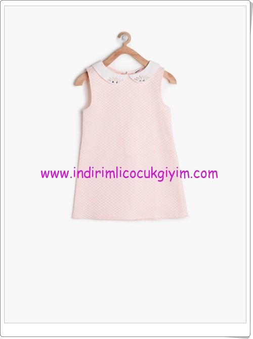 Koton kız çocuk pudra bebe yaka elbise-46 TL
