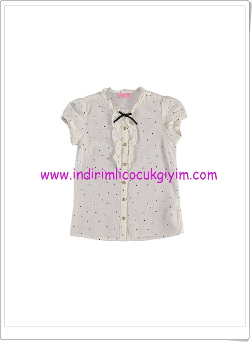 LC Waikiki kız çocuk ekru gömlek-27 TL