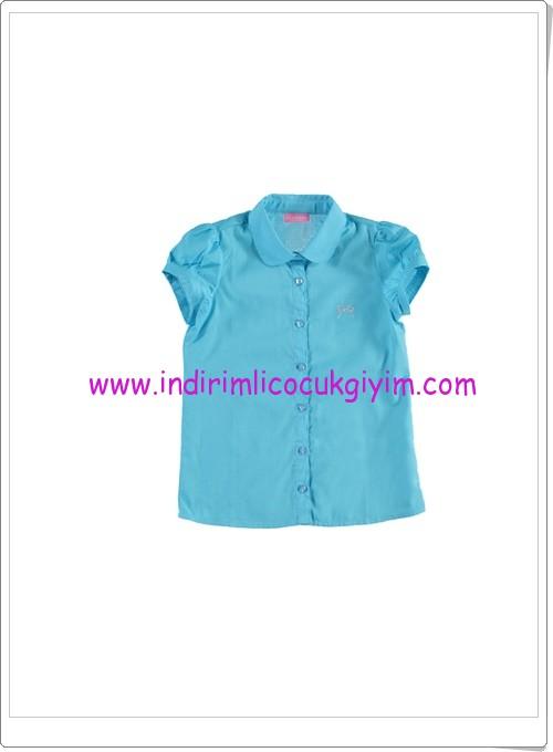 LC Waikiki kız çocuk turkuaz gömlek-17 TL