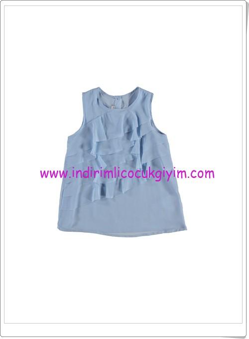 LC waikiki kız çocuk mavi fırfırlı bluz-27 TL