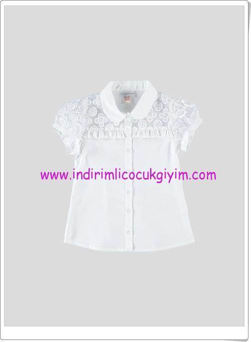 LCW kız çocuk beyaz tül detaylı gömlek-25 TL