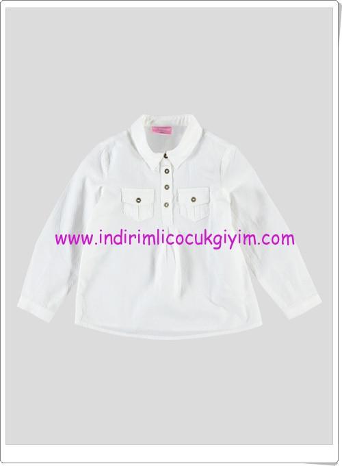 LCW kız çocuk ekru cepli bluz-20 TL