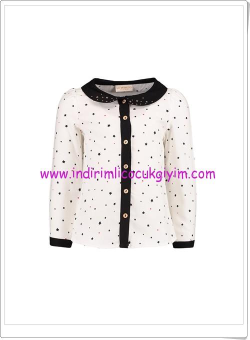 LCW kız çocuk ekru yıldızlı gömlek-20 TL