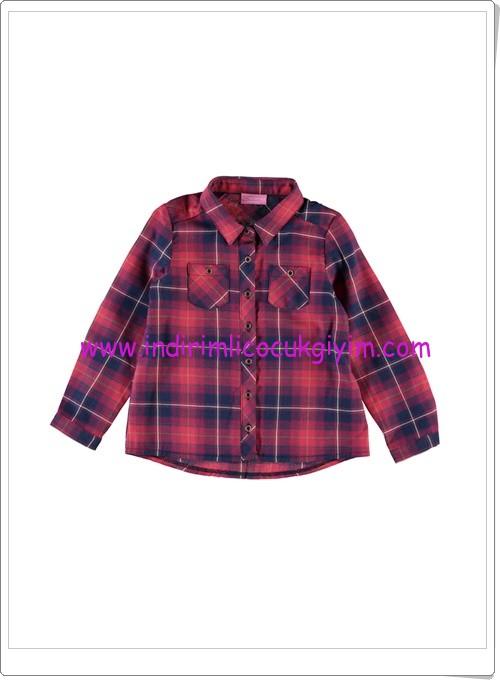 LCW kız çocuk kırmızı kareli gömlek-20 TL