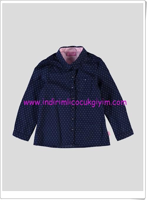 LCW kız çocuk lacivert uzun kollu gömlek-25 TL
