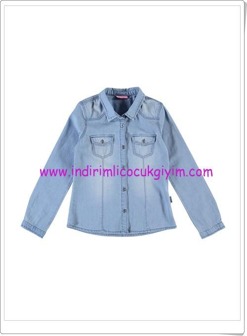 LCW kız çocuk mavi denim uzun kollu gömlek-36 TL