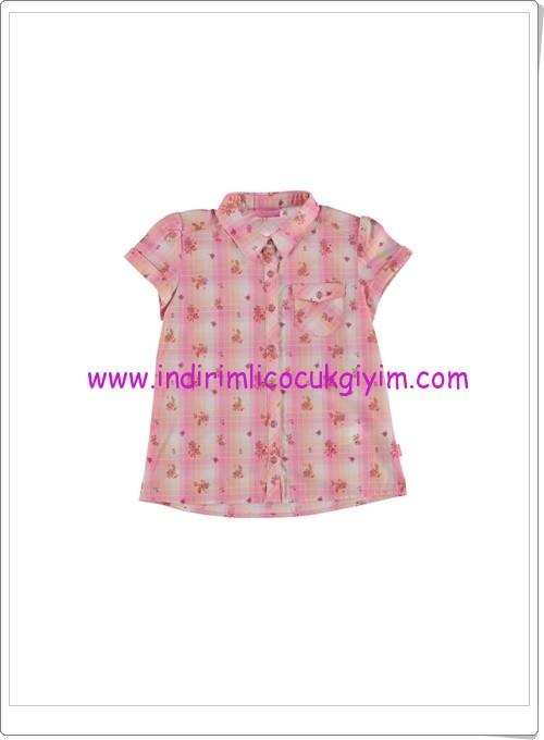 LCW kız çocuk pembe kareli desenli gömlek-27 TL