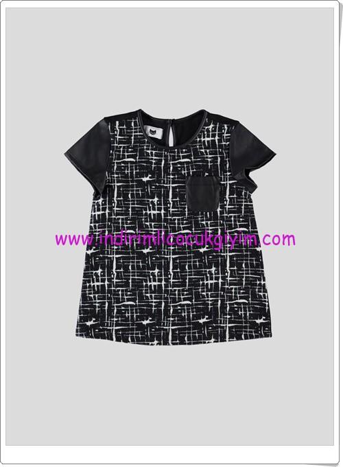 LCW kız çocuk siyah desenli bluz-15 TL