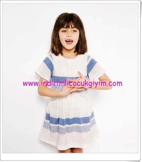 Zara kız çocuk çizgi baskılı elbise-90 TL