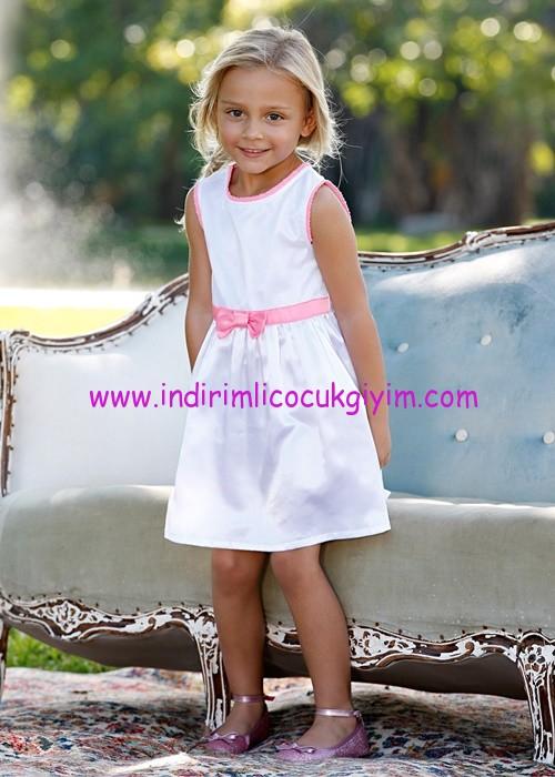 Bonprix kız çocuk beyaz kolsuz elbise