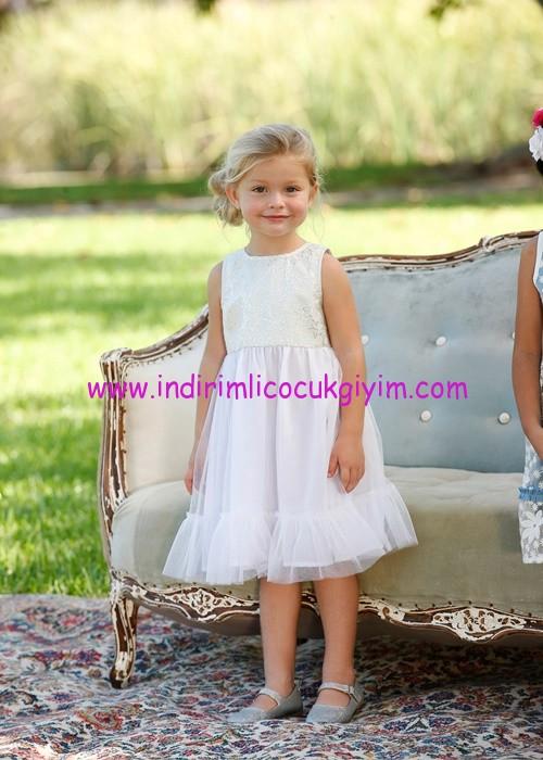 Bonprix kız çocuk beyaz tüllü elbise